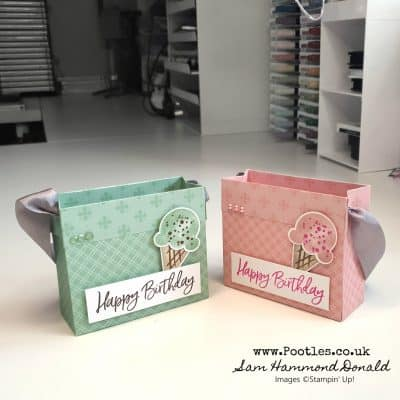 Sweet Ice Cream Bags using Double Core Colour Paper