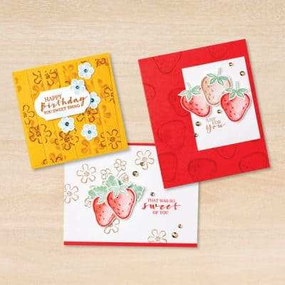 Sweet Strawberry Bundle Focus from Stampin' Up!