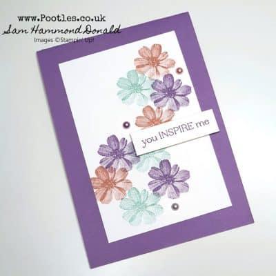Free Stamp Set – Delicate Dahlias – A Very Pretty Card!