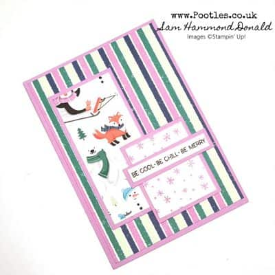 Penguin Themed Christmas Card using the Penguin Place Stamps and Free Paper!