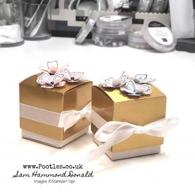 Quick Decoration Idea for Gold Treat Boxes
