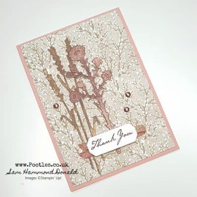 Harvest Dies with Rose and Gold Metallic Textured Paper